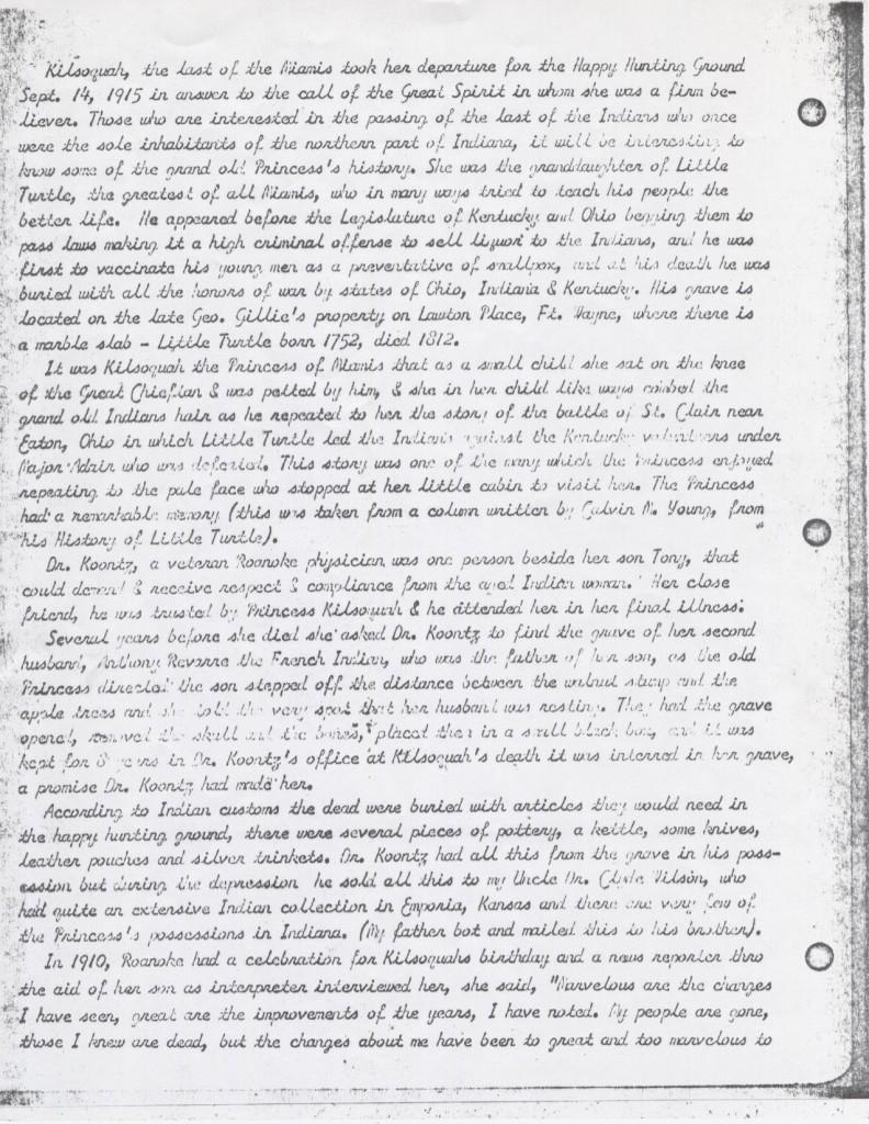 Redding account of Kilsoquah page 2