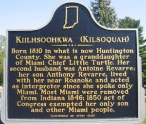A photo of the Kiilhsoohkwa (Kilsoquah) Historical Marker