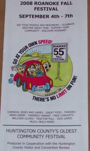 A photo of 2008 Roanoke Fall Festival brochure